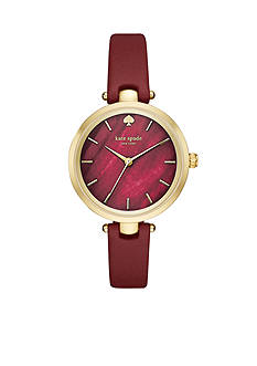 kate spade new york Women's Holland Three Hand Burgundy Watch