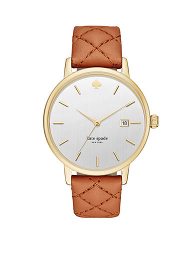 kate spade new york® Women's Grand Metro Three Hand Quilted Watch