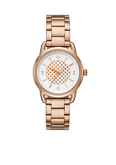 kate spade new york Women's Rose Gold-Tone Boathouse Watch