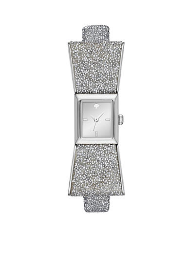 kate spade new york® Women's Silver-Tone Kenmare Bangle Bracelet Watch