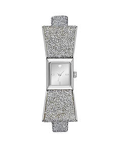 kate spade new york Women's Silver-Tone Kenmare Bangle Bracelet Watch