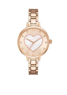 kate spade new york Rose Gold-Tone Metro Watch