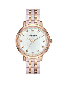 kate spade new york Women's Mixed Material Monterey Watch
