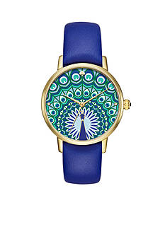 kate spade new york Gold-Tone Leather Metro Watch
