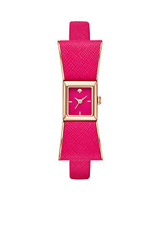 kate spade new york® bougainvillea pink leather kenmare watch