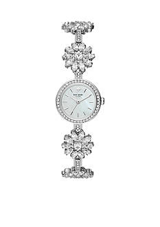 kate spade new york® Silver-Tone Crystal Daisy Chain Watch