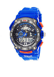 EVERLAST Blue Matte Crystal Watch