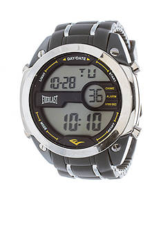 EVERLAST Gray Digital Rubber Watch