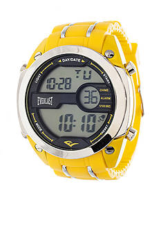 EVERLAST Yellow Digital Rubber Watch