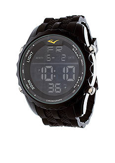 EVERLAST Rubber Band Digital Dial Waterproof Watch