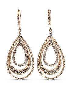 Judith Jack Gold-Tone Teardrop Drop Earrings