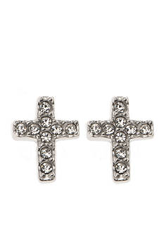 Judith Jack Sterling Silver Crystal Cross Stud Earrings