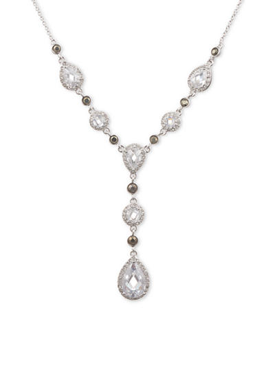 Judith Jack Sterling Silver Crystal Y Necklace
