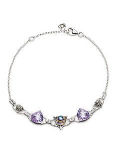 Judith Jack Sterling Silver Abalone Delicate Beaded Bracelet