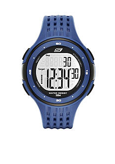 Skechers® Men's Blue Silicone Digital Watch
