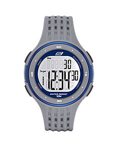 Skechers® Men's Cool Gray Silicone Digital Watch