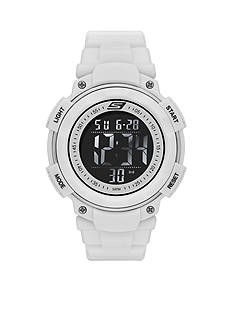 Skechers Men's White Silicone Digital Watch