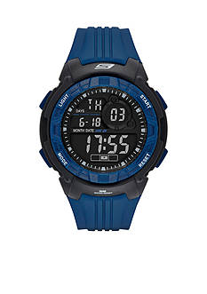Skechers® Men's Voorhees Digital Chronograph Blue and Black Watch