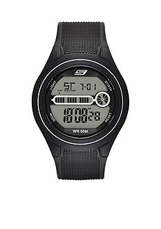 Skechers® Men's Gas Lamp Black Silicone Watch