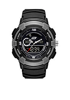 Skechers Men's Ana-Digi Black Silicone Watch