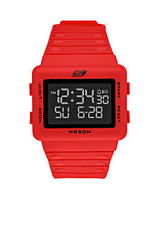 Skechers Men's Digital Red Watch