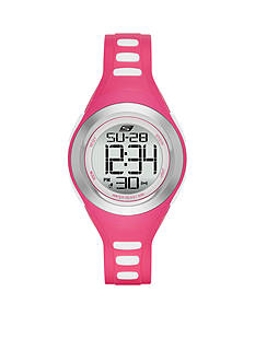 Skechers Women's Pink Silicone Digital Watch
