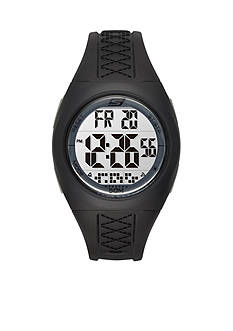Skechers Women's Poinsettia Black Silicone Strap Watch