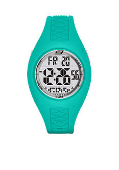 Skechers Women's Poinsettia Mint Green Silicone Strap Watch