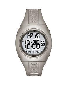 Skechers Women's Poinsettia Metallic Silver Silicone Strap Watch