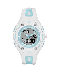Skechers Women's Liberty Digital Blue Silicone Strap Watch