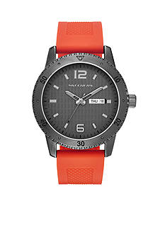 Skechers Men's Redondo Three-Hand Orange Silicone Strap Watch