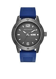 Skechers Men's Redondo Three-Hand Navy Silicone Strap Watch