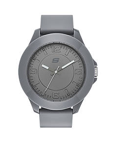 Skechers Men's Oversize Rosencrans Three-Hand Gray Silicone Strap Watch