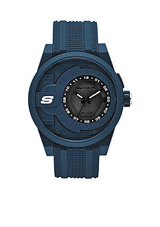 Skechers Men's Three-Hand Navy Silicone Watch