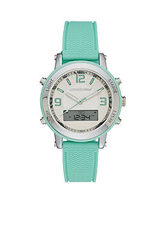 Skechers Women's Mint Green Silicone Ana-Digi Watch