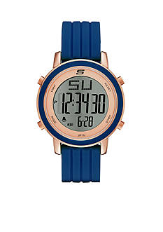 Skechers Women's Westport Digital Chronograph Navy Silicone Strap Watch