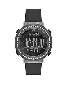 Skechers Women's Faymont Digital Chronograph Black Silicone Strap Watch