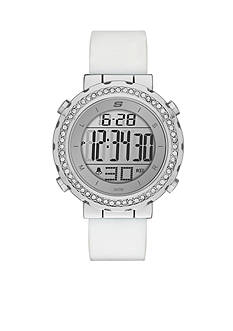 Skechers Women's Faymont Digital Chronograph Silver-Tone Watch