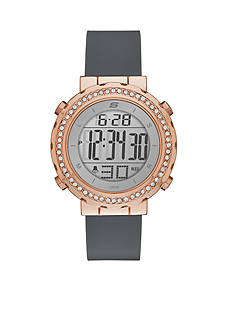 Skechers Women's Faymont Rose-Gold Tone Digital Chronograph Watch