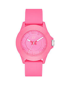 Skechers Women's Pink Silicone Three-Hand Watch