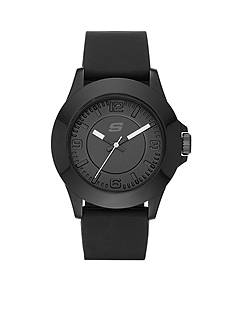 Skechers Women's Black Silicone Three-Hand Watch