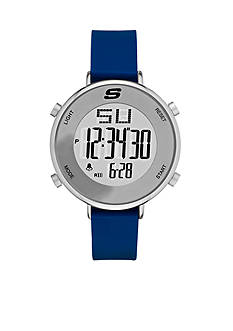 Skechers Men's Magnolia Digital Blue Silicone Strap Watch