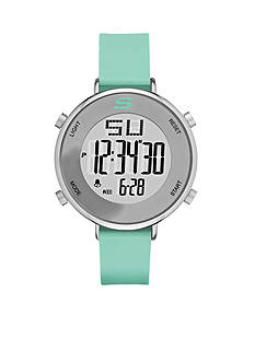 Skechers Men's Magnolia Digital Mint Silicone Strap Watch