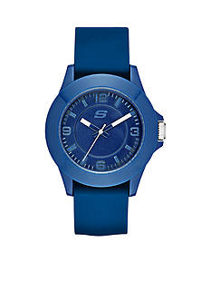 Skechers Women's Three-Hand Navy Silicone Watch