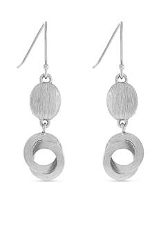Cole Haan Bang On Metals Silver-Tone Metal Double Drop Earring