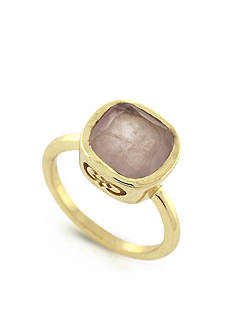 Cole Haan Gold-Tone Taupe Semi-Precious Stone Ring