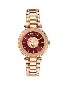 VERSUS VERSACE Brick Lane Rose-Gold and Purple Watch