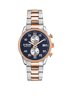VERSUS VERSACE Men's Shoreditch Rose Gold and Blue Watch