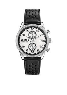VERSUS VERSACE Men's Shoreditch Black Leather Watch