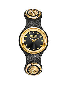 VERSUS VERSACE Carnaby Street Quartz Stainless Steel and Leather Watch